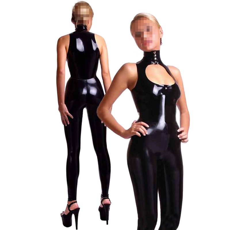 Woman Wet Look Bodycon Dress Dancewear Hot Mini Dress Clubwear Sexy Fetish Leather Rubber Dress