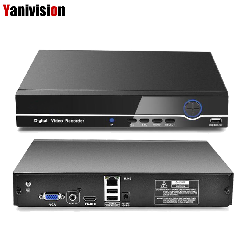 HI3536C H.265 8CH 4K / 25CH 5MP 32CH 1080P CCTV NVR 4K Output ONVIF Security Video Recorder H.265 Audio 1*SATA Port XMEYE P2P