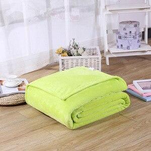 Image 4 - CAMMITEVER 5 размеров Фланелевое однотонное одеяло диван Постельное белье пледы мягкие зимние Плоские простыни для дома