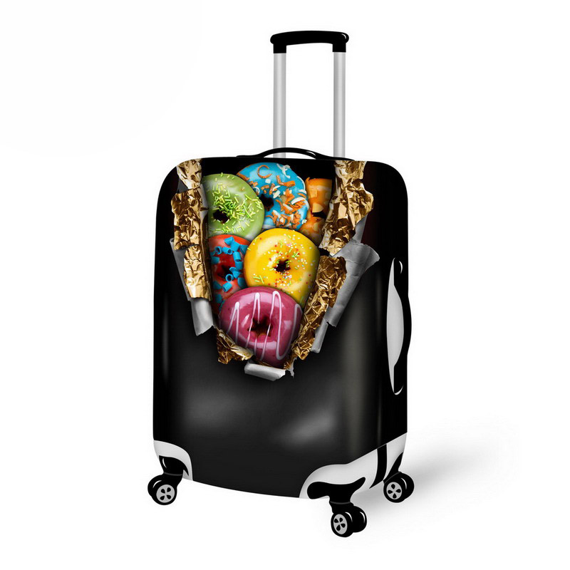 Creative Design  3d Print Luggage Suitcase Cover Baggage Protective Zipper Cover Suitable  For 18 To 30 Inch