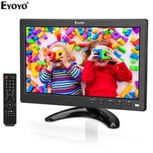 Eyoyo EM10V 10 inç Küçük TV monitörü 1024x600 LCD Ekran TV/HDMI/VGA/AV/USB girişi DVD PC CCTV Güvenlik Kamera Ahududu Pi