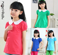 Summer Style T-Shirts Childrens Place Girl Cotton Printed Shirt Girls Short Sleeve T-Shirt 5-14Y Kids T Shirts Clothes for Girl