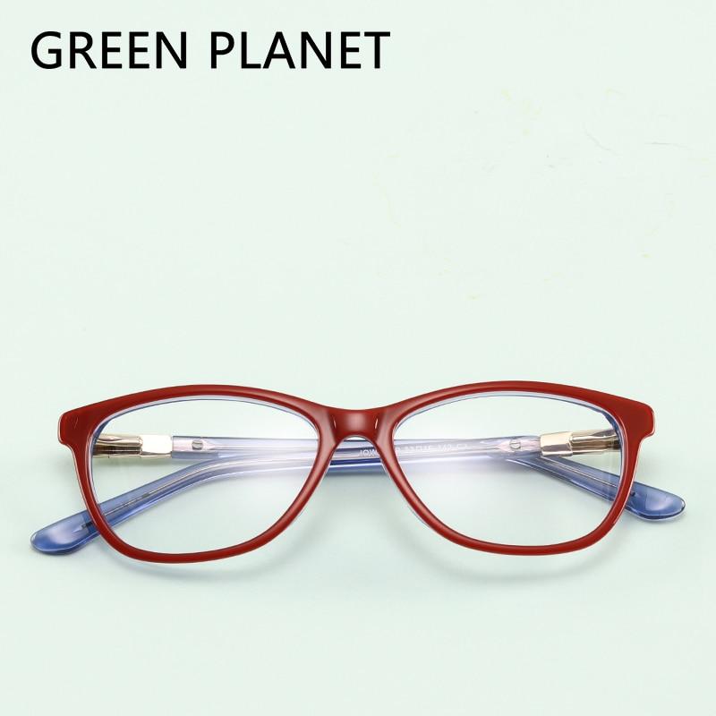 Green Planet Für Frauen Brille Weibliche Grade Rahmen Designer ...