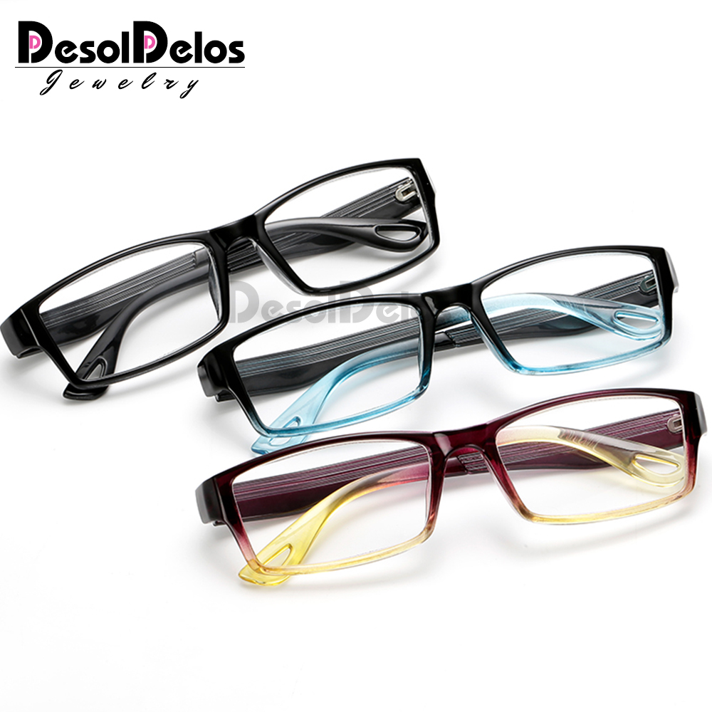 Fashion Unbreakable Reading Glasses Women Men Resin Glasses Transparent Spectacles Vintage Round Reading-glasses
