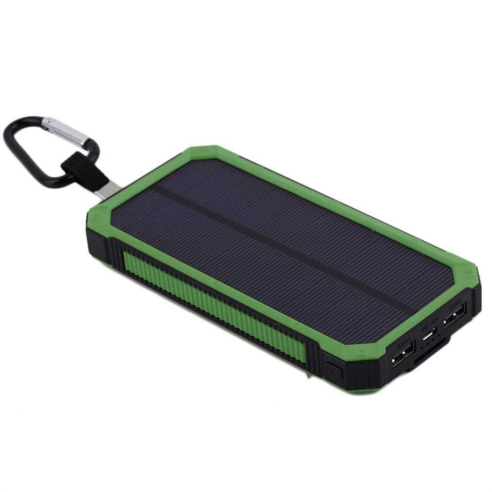 Wopow 20000mah Solar Power bank With LED Light PowerBank For Mobile Phones with Cable For iPhone For xiaomi External Battery
