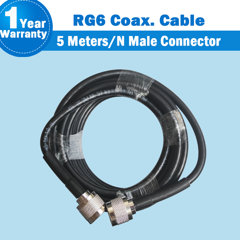 5 Meters High Quality N Male To N Male Connector 50ohm 5D Coaxial Cable For Mobile Phone Signal Booster Repeater Amplifier S34
