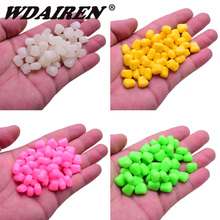 100pcs/lot carp Floating fishing bait 4 colors soft Baits Simulation corn soft Fishing Lure Tackles with Strong Corn Smell