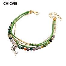 Женский кожаный браслет знаменитого бренда chicvie