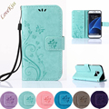 Кожаный Бумажник Телефон Case Для Samsung Galaxy Grand Prime Core II S5 S6 S7 Край Премьер J5 J3 J1 Мини A3 A5 2016 i8190 S7562 Крышка
