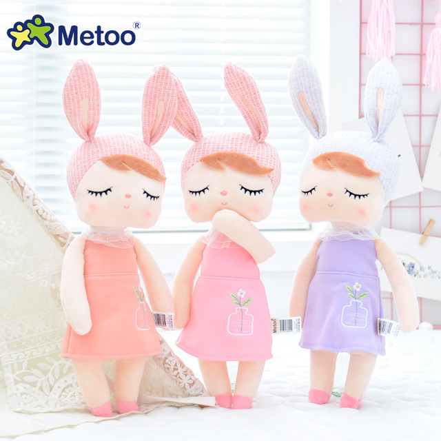 13 Inch Accompany Sleep Retro Angela Rabbit Plush Stuffed Animal Kids Toys for Girls Children Birthday Christmas Gift Metoo Doll