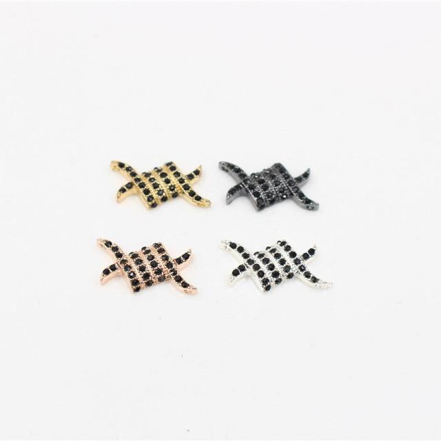 Модные бусины nadeem с микрозакрепкой из фианита искусственные