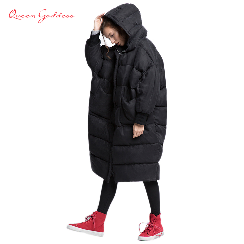 2019 Bat-wing Sleeve Loose And Thicken Style Winter Womens Down Jacket 100% High-end Fabric Cuprammonuium Elegant Lady Collect