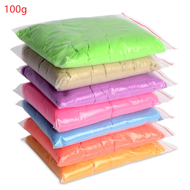 100g bag Slime Clay Dynamic Sand Gift Amazing Indoor Magic Play Sand Educational Toys Children Toys