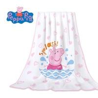 Hot Genuine Peppa Pig pure Cotton Bathrobe blanket Bath towel Peppa George plush kids Birthday Christmas toy gift high quality