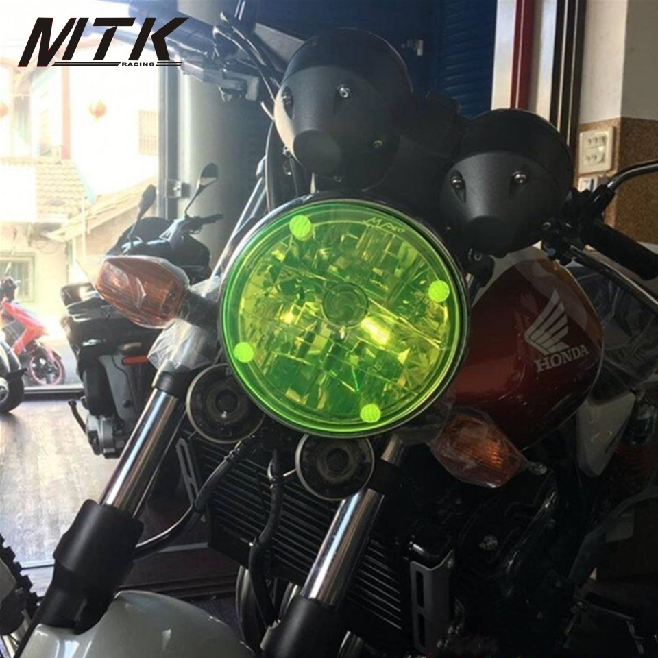 MTKRACING Acrylic Headlight Protector Cover Screen Lens For HONDA CB1100 EX CB1100 RS For KAWASAKI VULCAN 1700 VAQUERO elemax sh 6500 ex rs