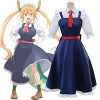 Anime Miss Kobayashi's Dragon Maid Tohru Cosplay Uniform Dress Kobayashi san Chi no Meidoragon Halloween Party Costumes Suit