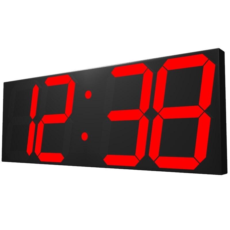 Grande Mostrador De Relógio de Parede Calendário Eletrônico Digital clcok Parede de Temperatura Na Sala de estar Relógio De Parede 3d Decoração Da Sua Casa