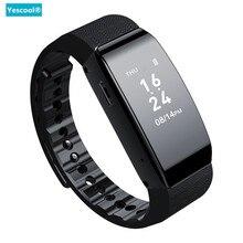 Yescool Invisble Цифровой диктофон Смарт часы браслет Спорт Шагомер Браслет MP3 музыкальный плеер голосовой активация рекордер