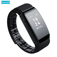 Yescool Invisble Digital Voice Recorder Smart watch Bracelet Sport Pedometer wristband MP3 Music Player Voice Activated Recorder