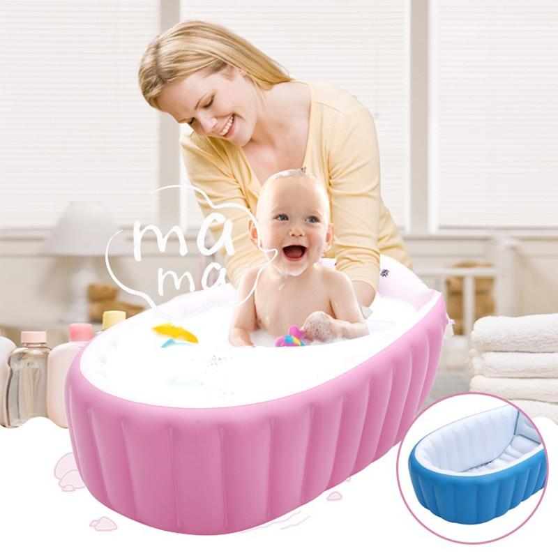 Portable Inflatable Baby Bath Kids Bathtub Thickening Folding ...