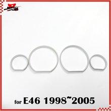 DASH для BMW E46 98 05 серебряные Кластерные кольца, серебряные кольца, серебряные кольца для приборной доски