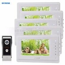 DIYSECUR 7 inch TFT Color LCD Display Video Door Phone Video Intercom Doorbell 700TVLine HD IR Night Vision Camera 1V5