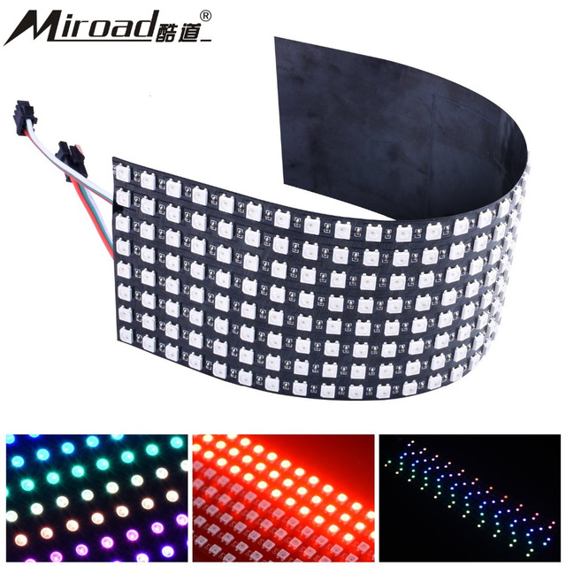 US $31 66 |Miroad 8x32cm Digital Flexible LED Panel, Built in WS2812B IC  256 Pixels Individually Addressable LED Light with Full QWS03-in  Replacement