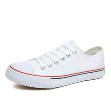 Thin Belt Simple White Spring New Couple Canvas Shoes Wholes