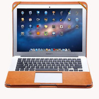 Luxury Book PU Leather Stand Cover Case For MacBook Air 13 Pro Retina 13 15 Folio