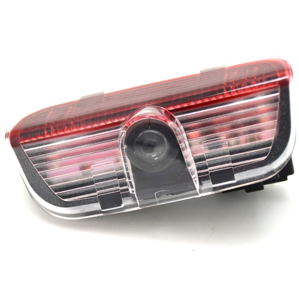 2pcs Wireless Car Door Projector Light Car Logo LED Laser Projector For Skoda Superb 2009-2014 Auto welcome lamp projection lamp