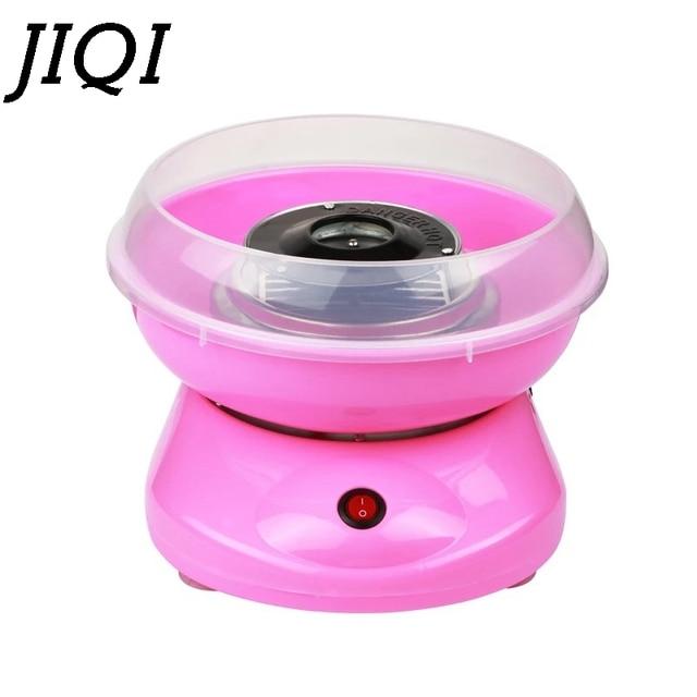JIQI Electric DIY Sweet Cotton Candy Maker Mini Portable Cotton Sugar Fairy Floss Marshmallow Machine Kids Gifts 110V 220V EU US