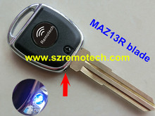 RMLSK 5pcs/lot Free Shipping Transponder Chip Key Fob MAZ13R blade Blank Fit For Mazda 2 3 5 6 CX7 +9 MX5 RX8 Car Key Case