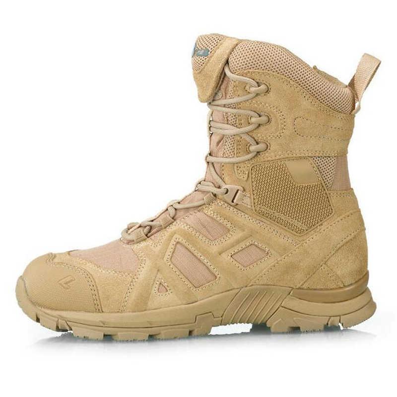 Merk Woestijn Tactische Militaire Lederen Laarzen Mannen Combat Laarzen Herenschoenen Werken Klimmen Mannen Leger Laarzen Snowboots Zapatos lente