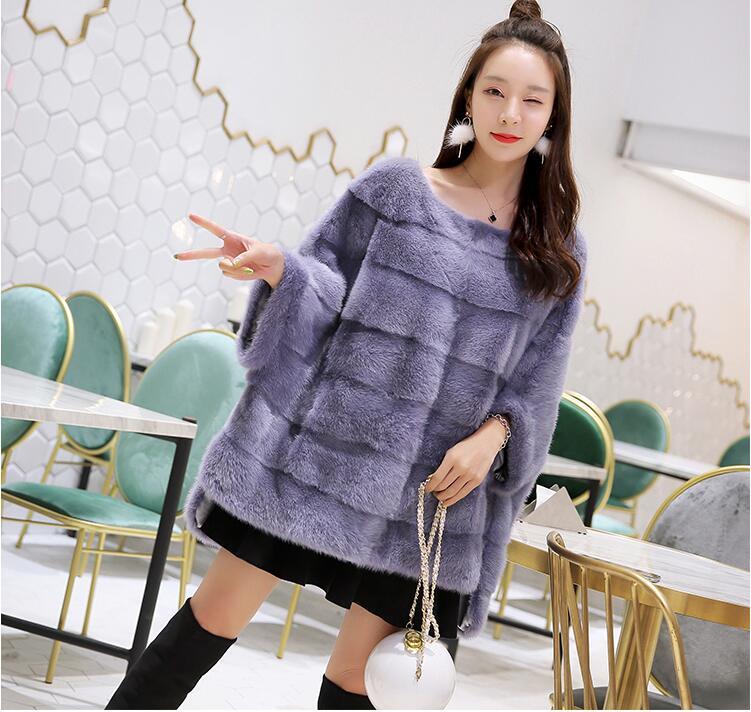Nuevo abrigo de piel de visón real para mujer Invierno cálido y - Ropa de mujer - foto 2