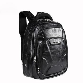 32d509448371 Кожаные рюкзаки для мужчин traverl подростков обувь для мальчиков Винтаж из  искусственной кожи школьные ранцы Бесплатная доставк