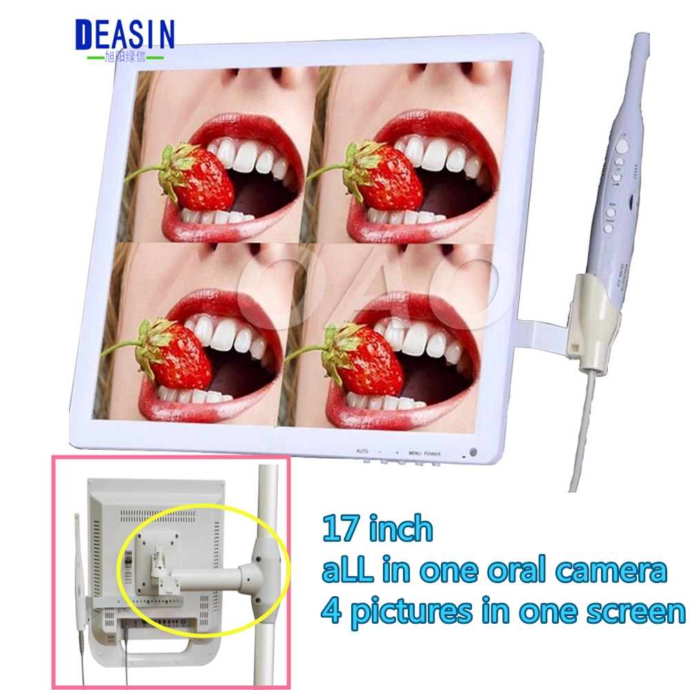17 inch dental unit type monitor Dental Equipment PIP Oral Camera Intraoral Camera USB Intraoral Camera with monitor md740 dental intraoral oral dental camera endoscope borescope usb x pro imaging systems