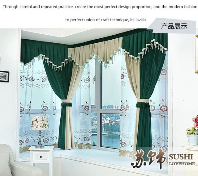 curtain with hooks or punching ,ready curtains,Mink velvet fabric ...