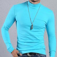 Мужская футболка, футболки с длинным рукавом, Термофутболка с высоким воротником, модные повседневные мужские топы, облегающие футболки, одежда 6XL
