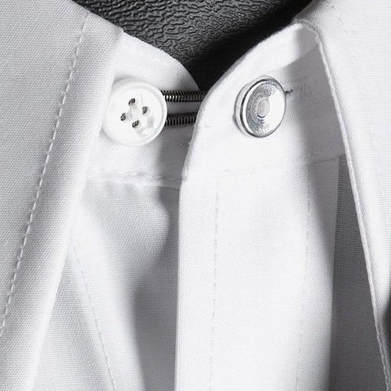 Removable Expanding Buttons 20 pcs Flexible Reusable Spring Shirt Collar Neck Tie Extenders Buttons Suit for Shirt Collar Jeans Extenders