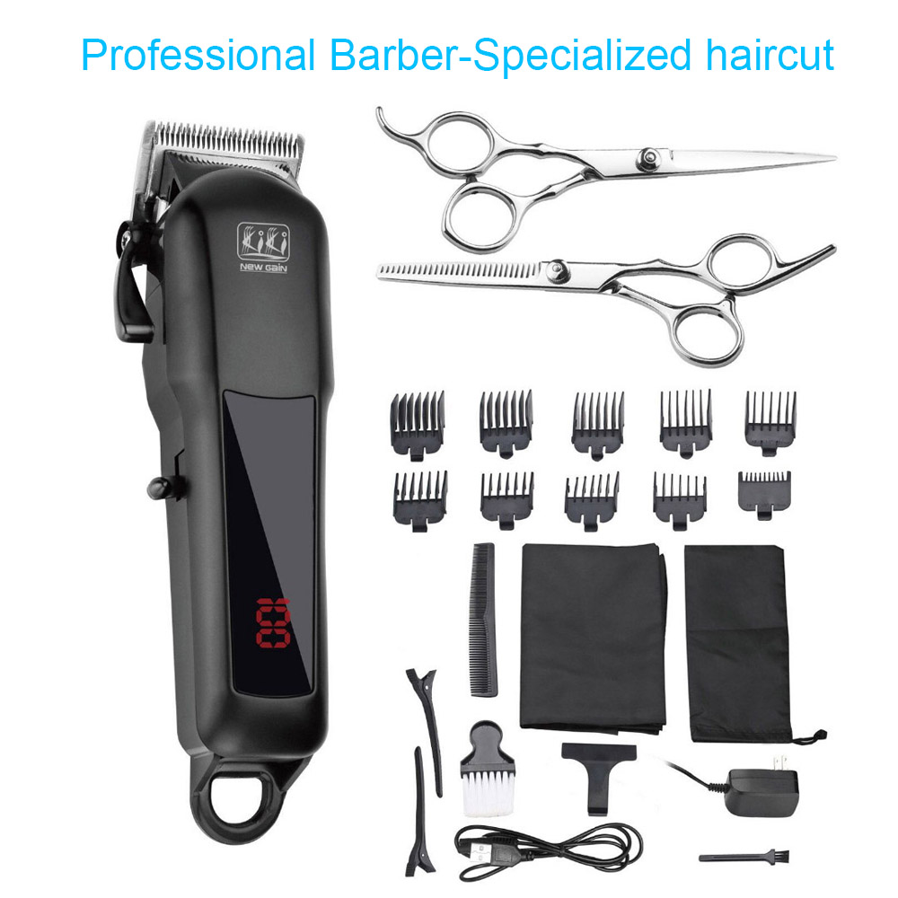 KIKI NEWGAIN rechargeable Professional Hair cutter Hair Trimmer 2000 mAh Lithium battery 100 240V NG 888 NG 777 with Lcd display-in Hair Trimmers from Home Appliances
