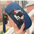 Nova moda em couro chave cavalo zipper senhoras femininos mulheres carteiras longas bolsa carteira feminina billeteras mujer frete grátis 45