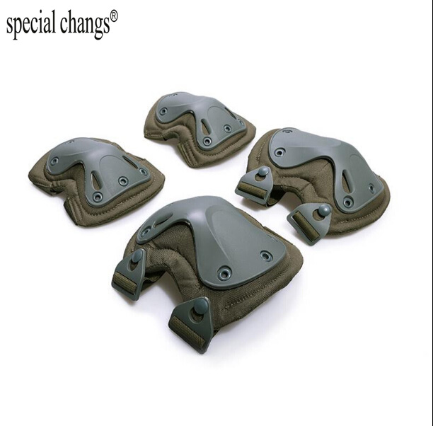 4 Pcs Tactical Paintball Accessories Protection Knee Pads & Elbow Pads Set For Outdoor Climbing Skating Training Elbow Kneecap Sports & Entertainment Shooting