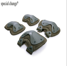 2017new Tactical paintball protection knee pads amp elbow pads set Free shipping cheap Adult special changs 365ss47