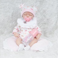 45cm lifelike soft lovely reborn baby doll realistic sleeping baby playing toys for kids Christmas Gift popular toys