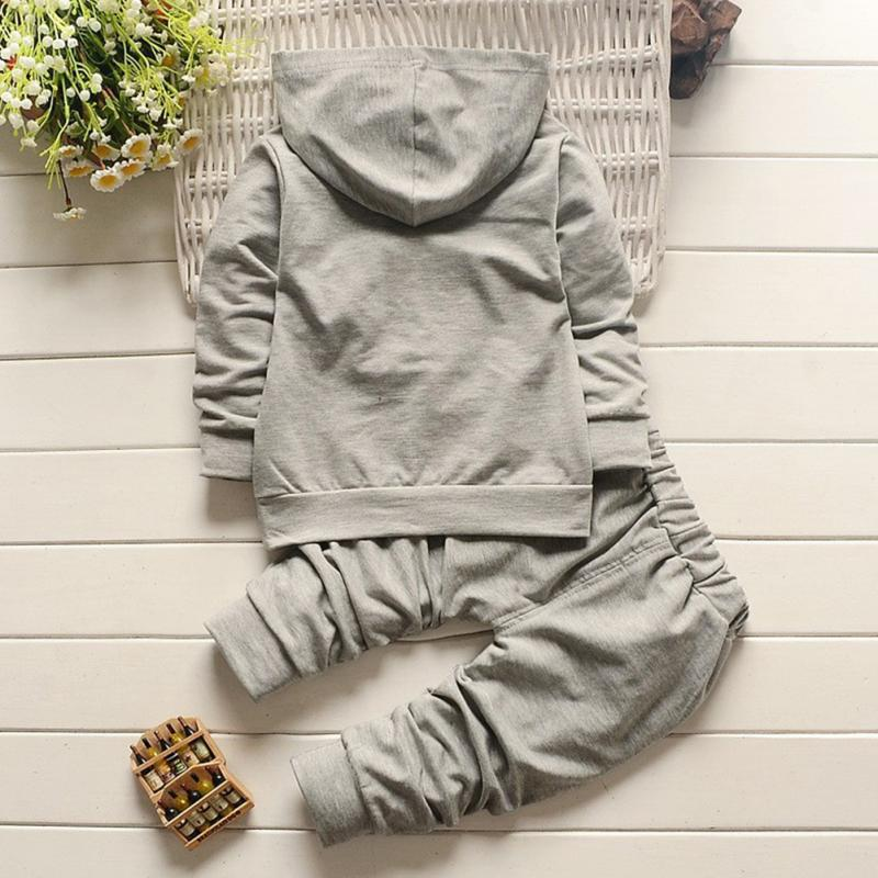 2pcs Clearance Autumn Winter Children Clothing Hooded Coat pants Fashion letter baby Boy Kid Cotton Tracksuit Pullover