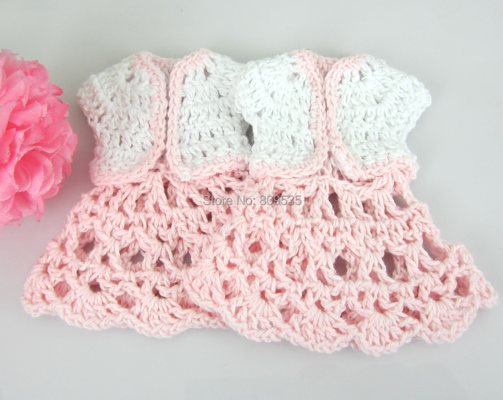 12pcs Miniature crochet gilet pour Baby Shower Baptême Parti Décorations de table