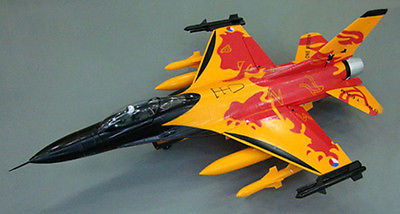 "51 ""skyflight f-16 fighting falcon lx rc 70mm fed brushless eps espuma avión modelo de kit de orange"