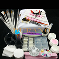 Nail Art UV Gel Kits sets Tool UV lamp Brush Remover nail tips glue acrylic manicure set 36w white lamp#002set