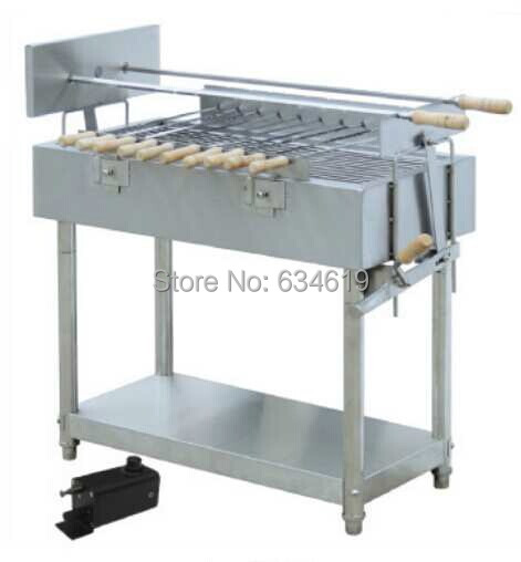 Top quality stainless steell bbq spinning charcoal grill, rotary skewers barbecue charcoal, motor rotary charcoal bbq grilles ...