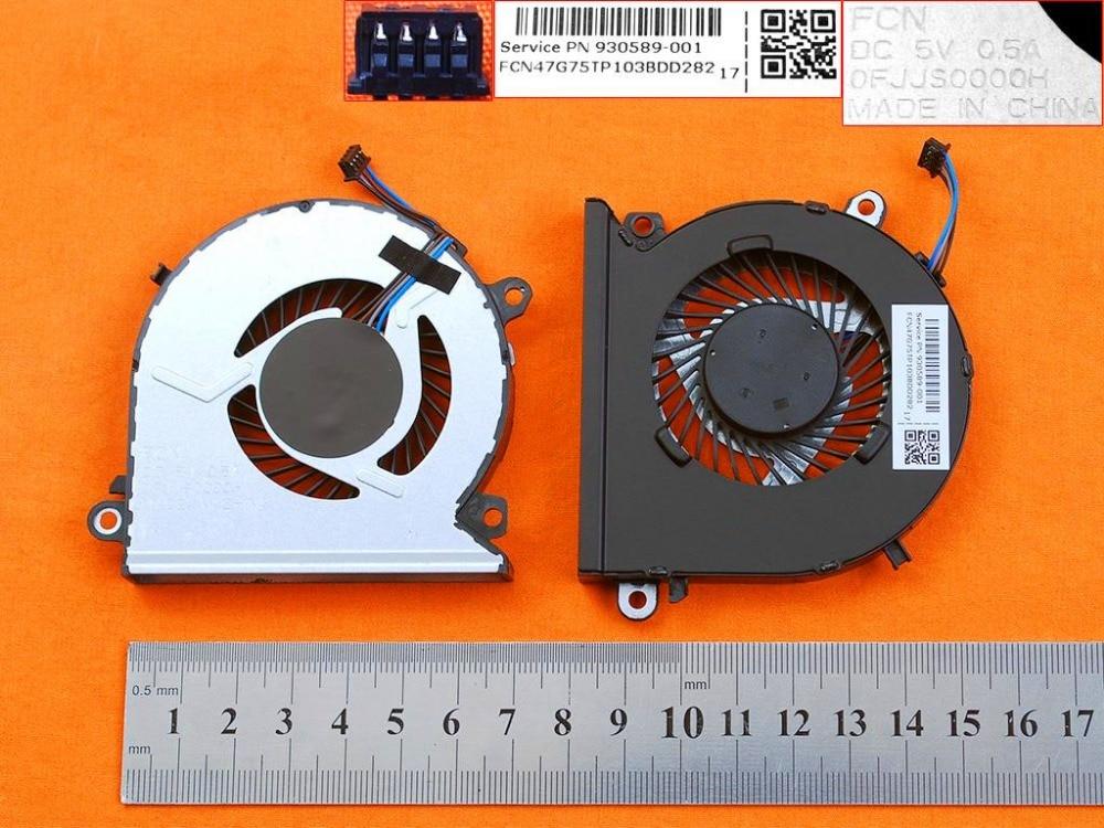 New original cpu fan for HP 15-CB 15-CB076TX 15-CB073TX TPN-Q193 cooler 930589-001 0FJJS0000H DC 5V 0.5A NS75B00-16L12